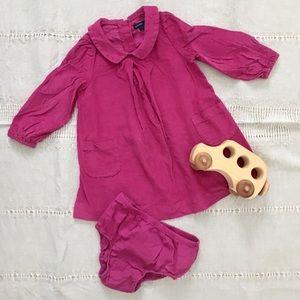 Baby GAP Pink Corduroy Dress & Bloomers • 18-24M